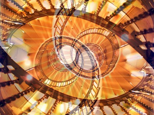 Digital Composite「Spiral staircase (multiple exposure)」:写真・画像(9)[壁紙.com]