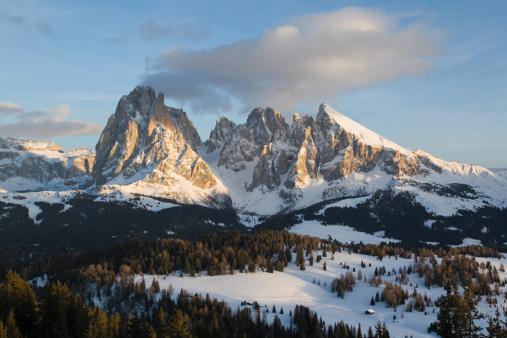 Langkofel「Alpenglow in Sella Mountains, Dolomites (XXXL)」:スマホ壁紙(12)