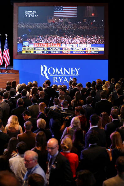 United States Presidential Election「Republican Presidential Candidate Mitt Romney Holds Election Night Gathering In Boston」:写真・画像(17)[壁紙.com]