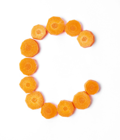 Carrot「Upper or Lower Case Letter C made with Carrots Slices」:スマホ壁紙(10)