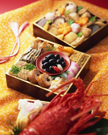 おせち「Japanese New Year Dishes」:スマホ壁紙(8)