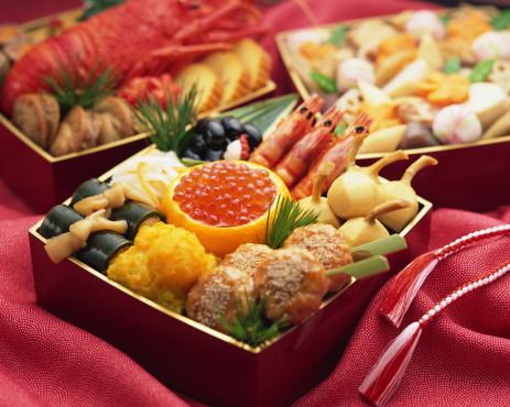 おせち「Japanese New Year Dishes」:スマホ壁紙(9)