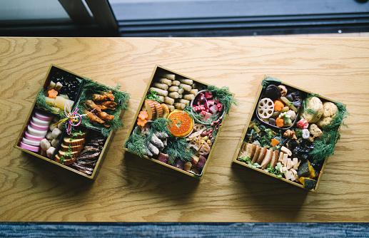 festive food for the New Year「Japanese New Year's Day food Osechi Ryori」:スマホ壁紙(8)