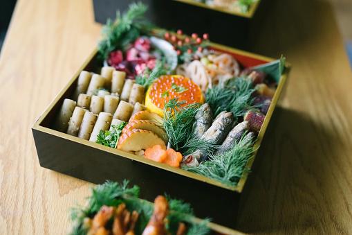 festive food for the New Year「Japanese New Year's Eve food Osechi Ryori」:スマホ壁紙(5)