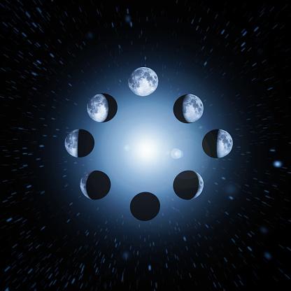 Continuity「eight moon phases Illustration」:スマホ壁紙(17)