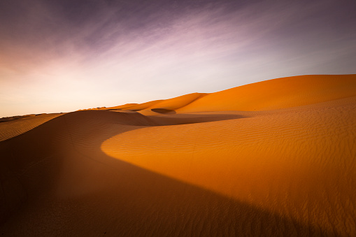 Oman「desert sunset」:スマホ壁紙(19)