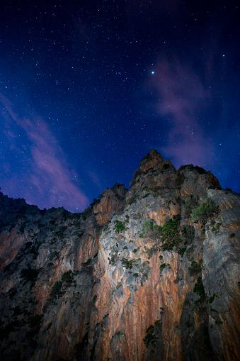 Milky Way「Mountains above Torrent de Pareis beach and stars」:スマホ壁紙(10)