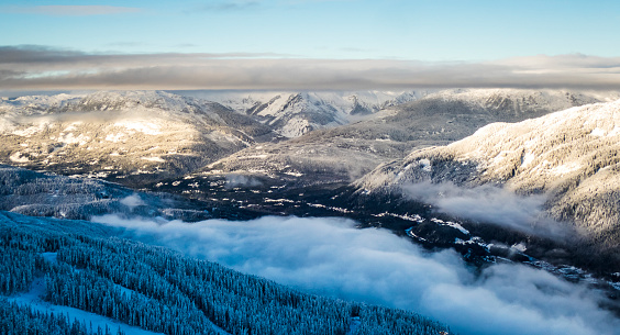 スノーボード「Mountains and valleys in winter, Whistler, British Columbia, Canada」:スマホ壁紙(18)