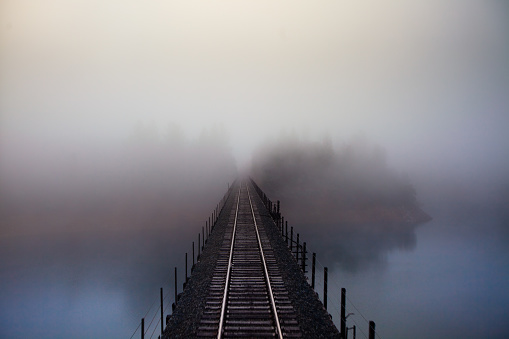 Fog「Rail Bridge in the Fog」:スマホ壁紙(18)