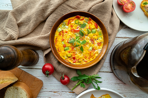 Asparagus「homemade frittata, made with egg, bell pepper and asparagas」:スマホ壁紙(19)