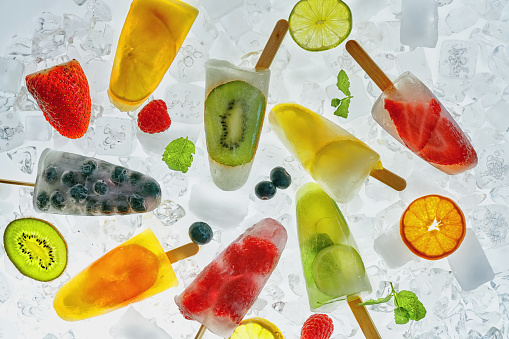 summer「Homemade Fruit Popsicle's on Ice」:スマホ壁紙(17)