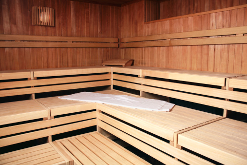 Health Spa「Benches of wooden sauna」:スマホ壁紙(6)