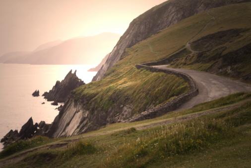 Republic of Ireland「Country Road in Irland Sunset」:スマホ壁紙(10)