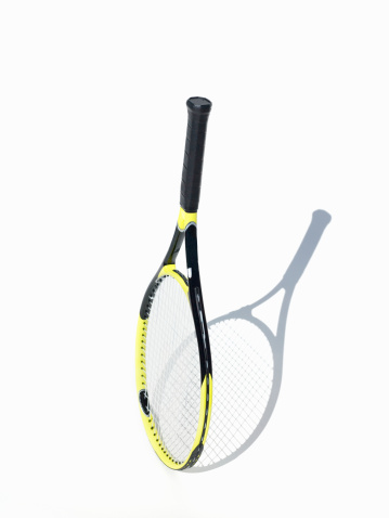 Sports Equipment「Tennis racket on white background」:スマホ壁紙(10)