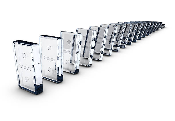 Dominos made of glass:スマホ壁紙(壁紙.com)