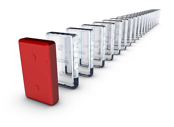 Dominos made of glass, leader concept:スマホ壁紙(壁紙.com)