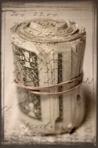 Multiple Exposure「A roll of dollar bills with a handwritten note overlayed」:スマホ壁紙(3)