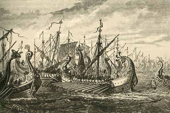 Ship「Greek Triremes At The Battle Of Salamis」:写真・画像(9)[壁紙.com]