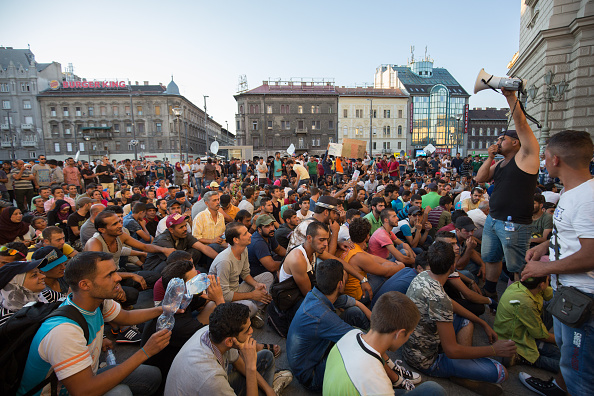Hungary「Record Number Of Migrants Flowing Into Hungary Across Its Borders With Serbia」:写真・画像(13)[壁紙.com]