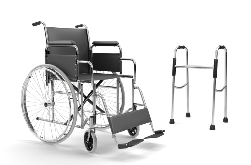 Alternative Therapy「Wheelchair and Walker on White Background (XXXL)」:スマホ壁紙(1)