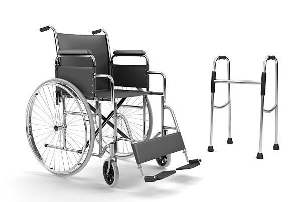Wheelchair and Walker on White Background (XXXL):スマホ壁紙(壁紙.com)