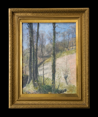 Painted Image「Spring in Devon by Tom Roberts」:スマホ壁紙(13)
