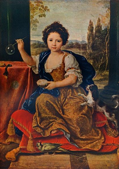 殻「Louise Marie Anne de Bourbon, (1674-1681), illegitimate daughter of Louis XIV, c1680, (1911). Artist: Pierre Mignard」:写真・画像(2)[壁紙.com]