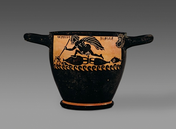 Classical Greek「Boetian Black-Figure Skyphos Depicting Odysseus At Sea And With Circe」:写真・画像(5)[壁紙.com]