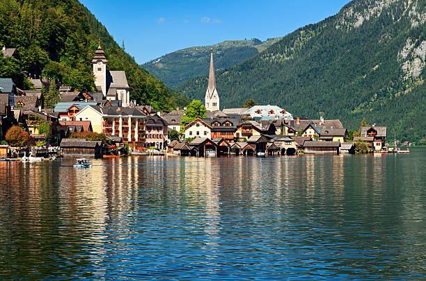Hallstatt village, Austria:スマホ壁紙(壁紙.com)