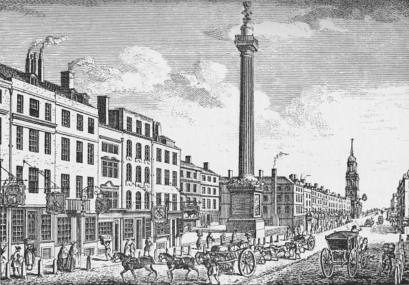 Engraving「The Monument, City of London, c1755 (1903)」:写真・画像(18)[壁紙.com]