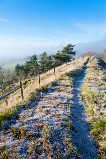 コッツウォルズ「A frosty winter morning on the Cotswolds」:スマホ壁紙(18)