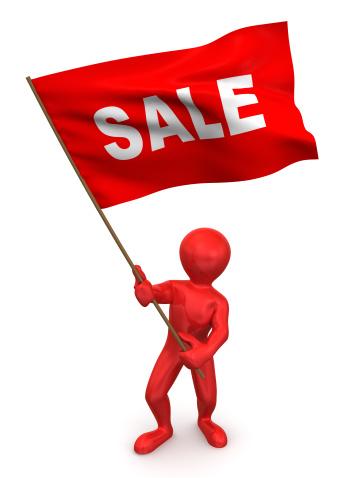 Used Car Selling「Men with flag sale. 3d」:スマホ壁紙(18)