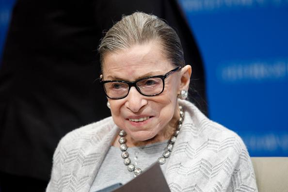 Smiling「Supreme Court Justice Ruth Bader Ginsburg Delivers Remarks At Georgetown Law」:写真・画像(9)[壁紙.com]