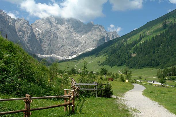 Austria, mountain scenery with farm track:スマホ壁紙(壁紙.com)