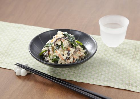 Wood ear「Spinach dressed with mashed tofu」:スマホ壁紙(19)