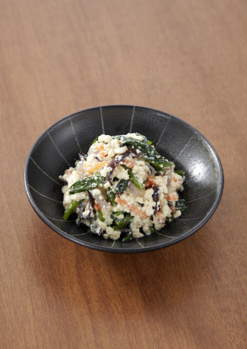 Wood ear「Spinach dressed with mashed tofu」:スマホ壁紙(2)