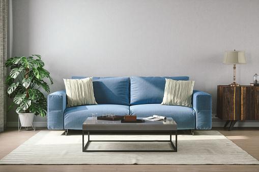USA「Vintage Style Living Room」:スマホ壁紙(1)