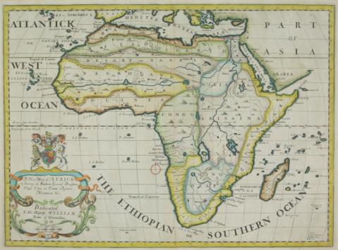 Island「Antique map of Africa and Madagascar」:スマホ壁紙(4)