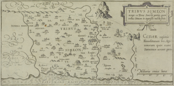 Gaza Strip「Antique map showing distribution of Simeon tribe in the holy land」:スマホ壁紙(10)