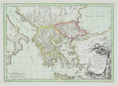 Latitude「Antique map showing Greece and Turkey with Italy , Albania , Bulgaria , and Yugoslavia」:スマホ壁紙(19)