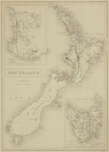 Latitude「Antique map of New Zealand」:スマホ壁紙(3)