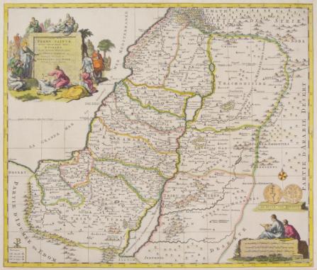 Latitude「Antique map of present day Israel」:スマホ壁紙(18)