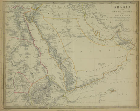 Latitude「Antique map of Arabia with Egypt , Nubia , and Abyssinia」:スマホ壁紙(8)