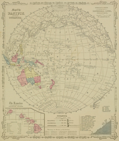 Latitude「Antique map of Pacific Oceanica with inset of islands」:スマホ壁紙(16)