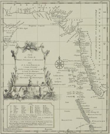 Latitude「Antique map of the Maldives and coastal India」:スマホ壁紙(10)