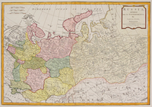 Latitude「Antique map of Russia」:スマホ壁紙(11)