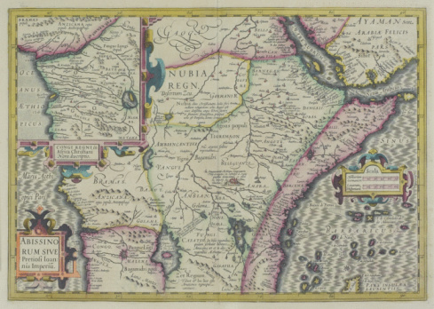 Lake Victoria「Antique map of central Africa with inset of Congo River」:スマホ壁紙(13)