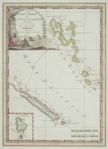 French Overseas Territory「Antique map of New Caledonia with inset and cartouche」:スマホ壁紙(13)