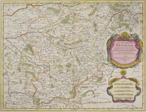 Latitude「Antique map of Westphalia in Germany」:スマホ壁紙(8)