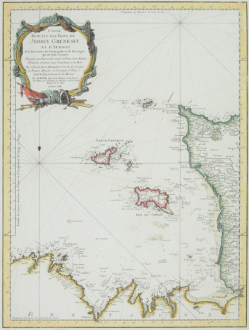 Latitude「Antique map of Channel Islands of Jersey and Guernsey」:スマホ壁紙(1)